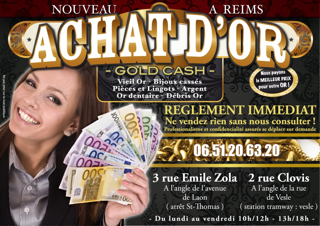 Achat or Reims gold cash